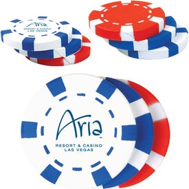 Logo Stack of Poker Chips Stress Reliever