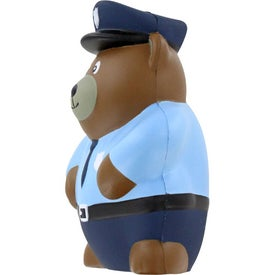 Police Bear Stress Ball for Customization