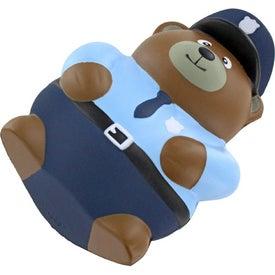 Imprinted Police Bear Stress Ball