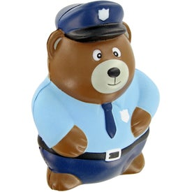 Police Bear Stress Toy for Promotion