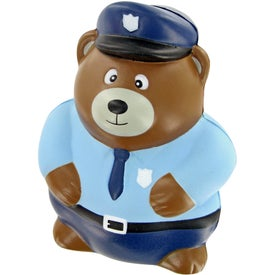 Police Bear Stress Toy for your School