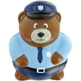 Promotional Police Bear Stress Toy
