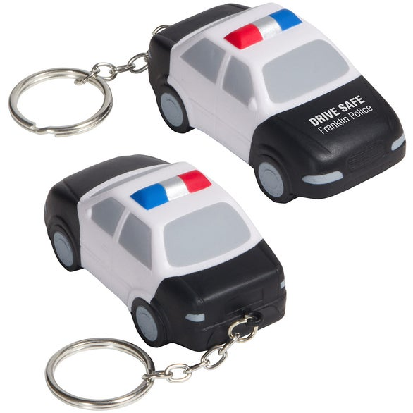 See Item Police Car Stress Ball Key Chain