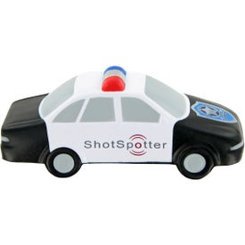 Imprinted Police Car Stress Toy