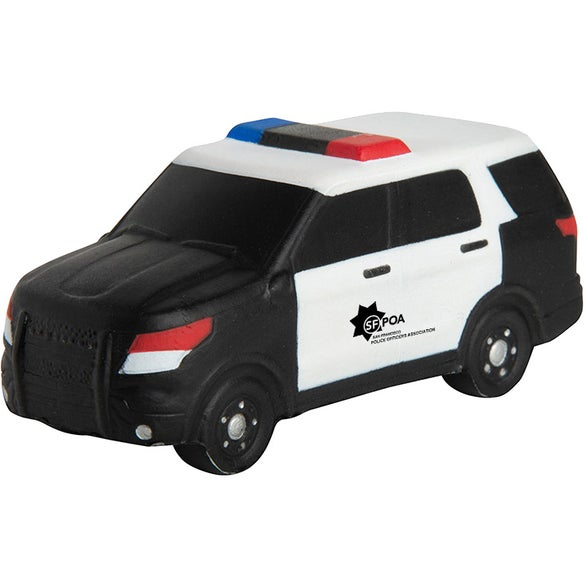Black / White Police SUV Stress Reliever