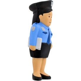 Custom Police Woman Stress Ball