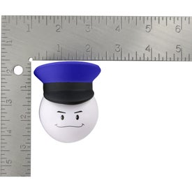 Policeman Mad Cap Stress Ball Imprinted with Your Logo