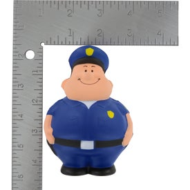 Imprinted Policeman Bert Stress Reliever