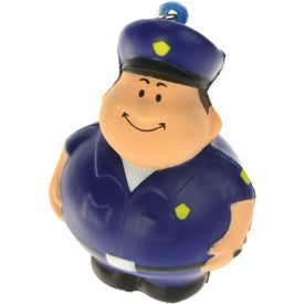 Policeman Bert Stress Reliever Keyring for Marketing