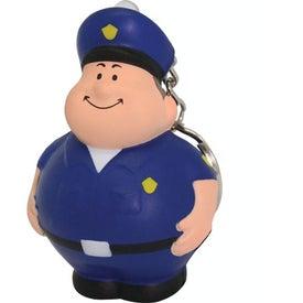 Policeman Bert Stress Reliever Keyring