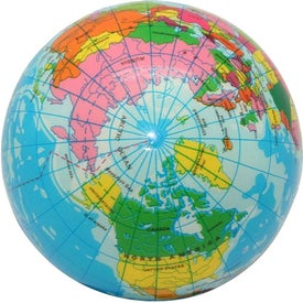 Imprinted High Detail Globe Stress Reliever
