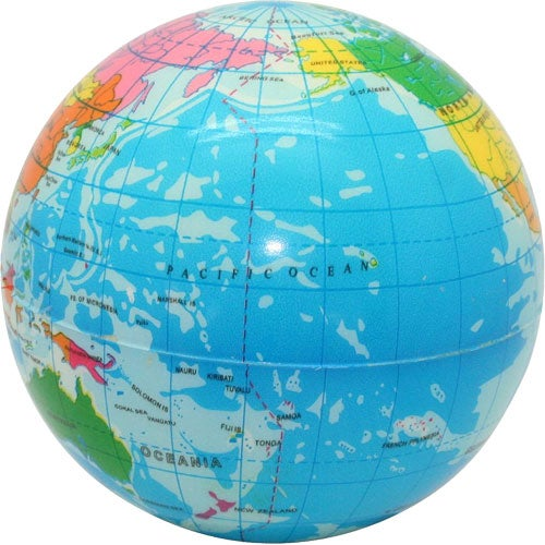 Printed Globe Stress Reliever