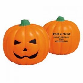 "Pumpkin Stress Ball (2.5"" x 2.5"" x 2"" Dia.)"