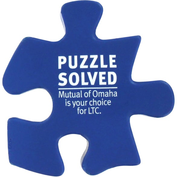 Blue Puzzle Piece Stress Ball