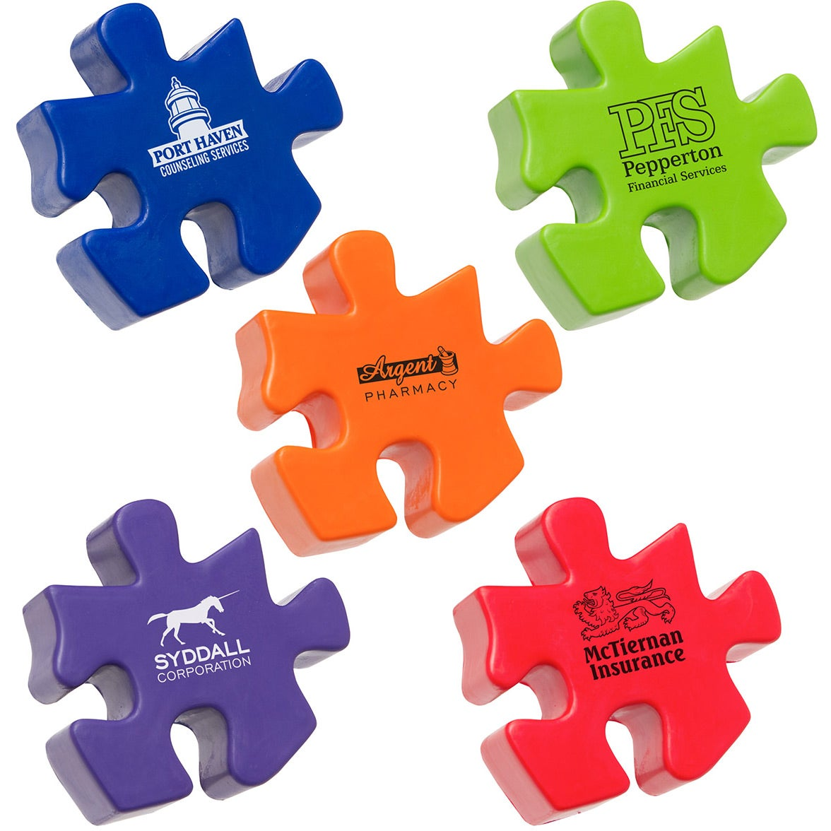 Group Photo Puzzle Piece Stress Ball With Your Slogan