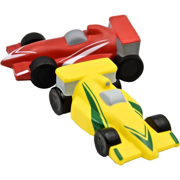 Toy Race Cars : Promotional race car stress toys with custom logo for