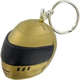 Personalized Racing Helmet Keychain Stress Toy