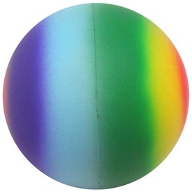 Branded Rainbow Ball Stress Reliever