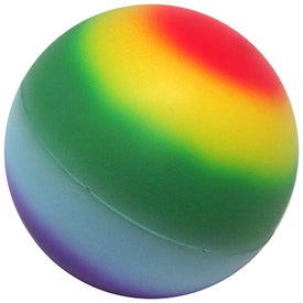 Rainbow Ball Stress Reliever with Your Slogan