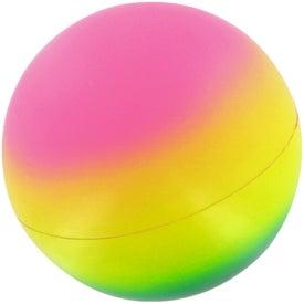 Personalized Rainbow Ball Stress Toy
