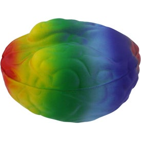 Rainbow Brain Stress Reliever Printed with Your Logo