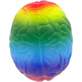 Rainbow Brain Stress Toy with Your Slogan