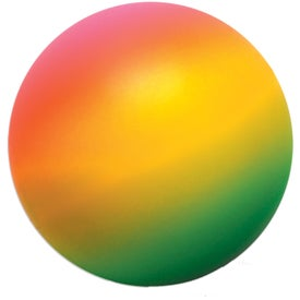 Branded Rainbow Round Stress Ball