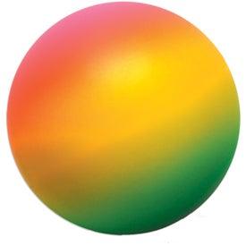 Branded Rainbow Round Stress Ball