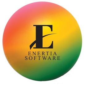 Imprinted Rainbow Round Stress Ball