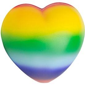 Rainbow Sweet Heart Stress Reliever