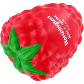 Printed Raspberry with Leaf Stress Ball