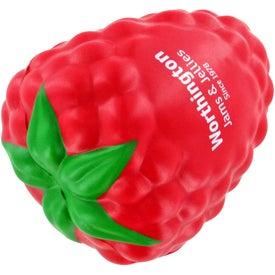 Printed Raspberry with Leaf Stress Ball