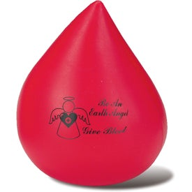 Red Blood Drop Stress Ball (Economy)