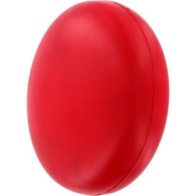Monogrammed Red Disk Stress Reliever