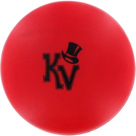 Promotional Red Disk Stress Reliever
