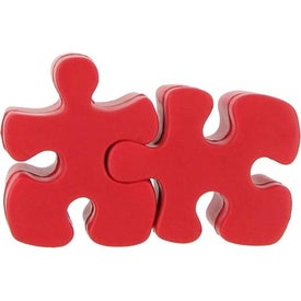 Imprinted Red Puzzle Piece Stress Reliever