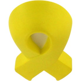 Advertising Yellow Award Ribbon Stress Relievers