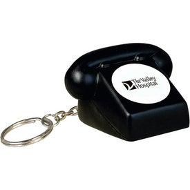 Telephone Key Chain Stress Ball