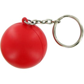 Round Ball Keychain Stress Toy Branded with Your Logo