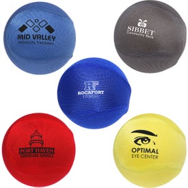 Printed Round Fabric Stress Ball