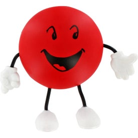 Round Figure Stress Ball with Your Logo