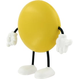 Branded Round Figure Stress Ball