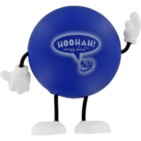 Round Figure Stress Ball Printed with Your Logo