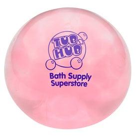 Round Uniqgel Bead Squeezer Branded with Your Logo