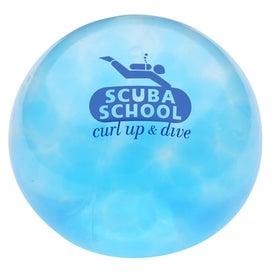 Round Uniqgel Bead Squeezer with Your Slogan