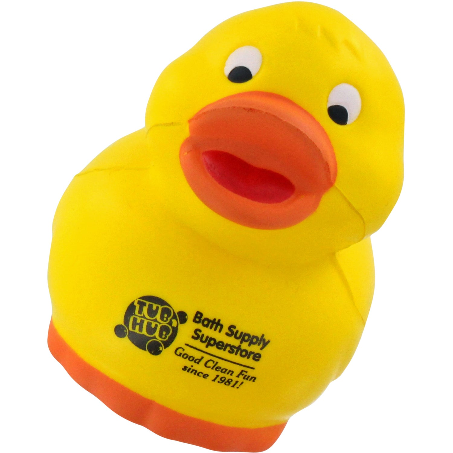 Promotional Rubber Duck Stress Balls with Custom Logo for $1.326 Ea.