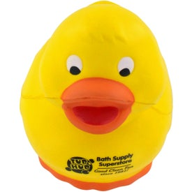 Rubber Duck Stress Ball Printed with Your Logo