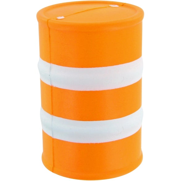 Orange / White Safety Barrel Stress Toy