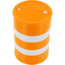 Safety Barrel Stress Ball for Marketing