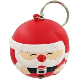 Monogrammed Santa Ball Keychain Stress Toy